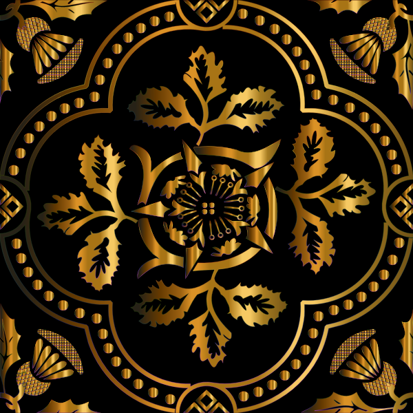 Decorative Floral Design Enhanced 11
