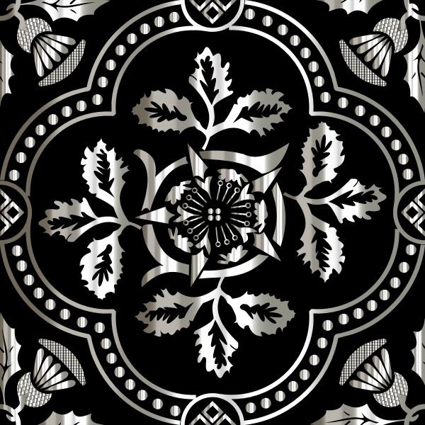 Decorative Floral Design Enhanced 12