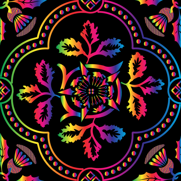 Decorative Floral Design Enhanced 15