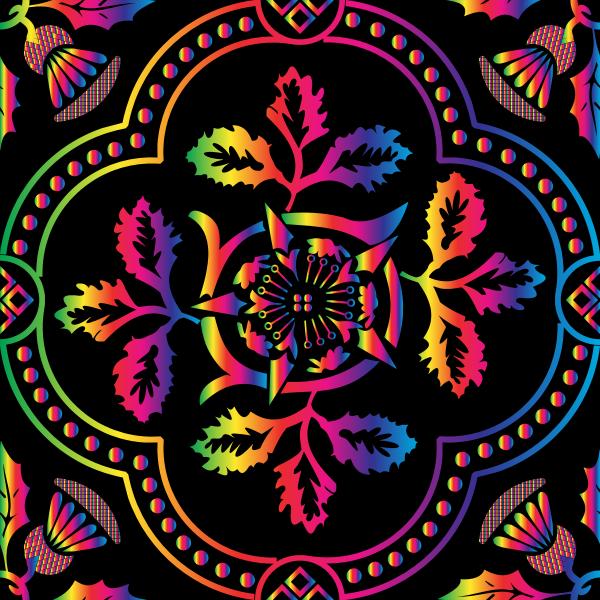 Decorative Floral Design Enhanced 15
