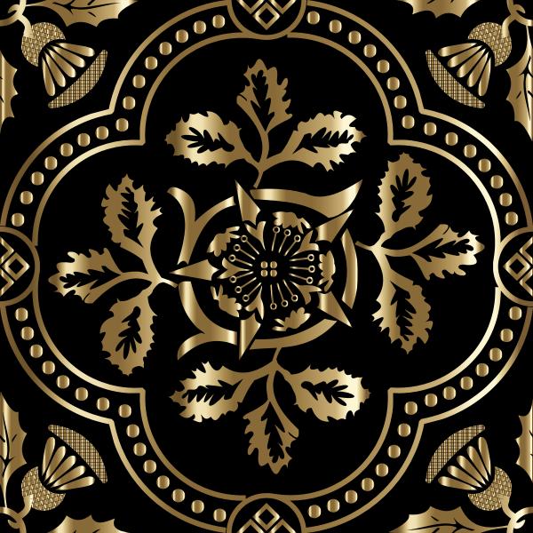 Decorative Floral Design Enhanced 17