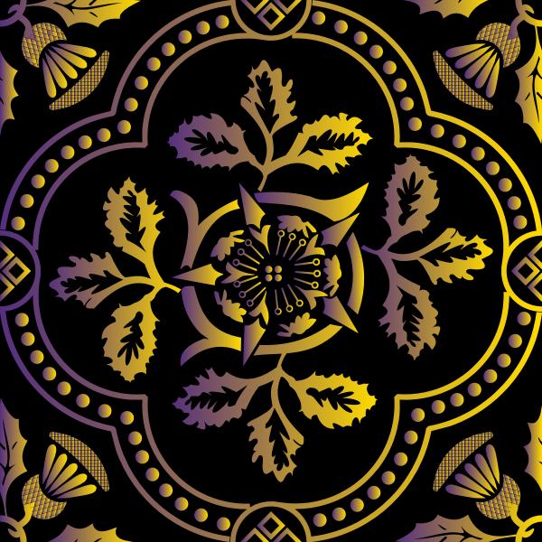 Decorative Floral Design Enhanced 19
