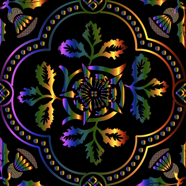 Decorative Floral Design Enhanced 2