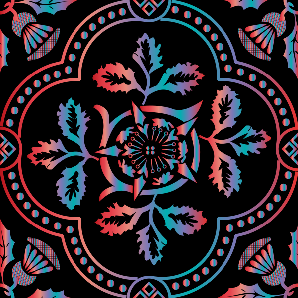 Decorative Floral Design Enhanced 20