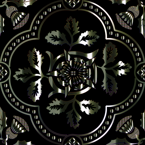Decorative Floral Design Enhanced 5