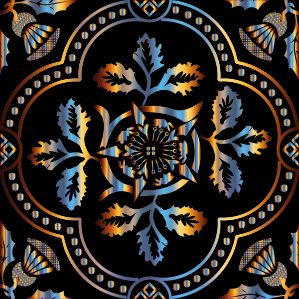 Decorative Floral Design Enhanced 7