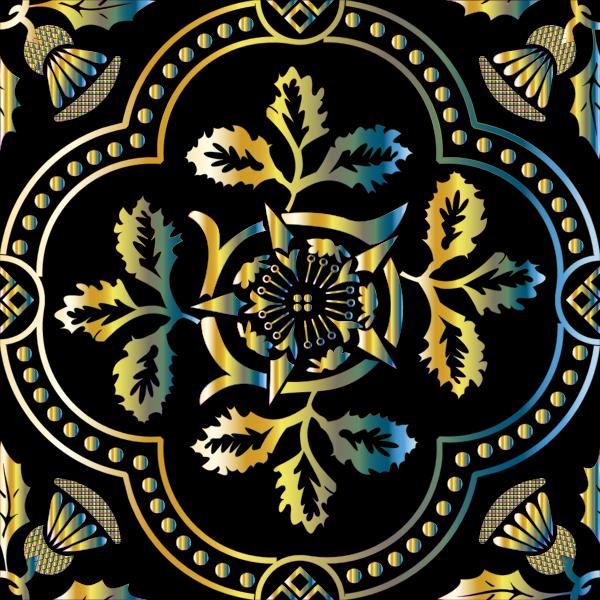 Decorative Floral Design Enhanced 8