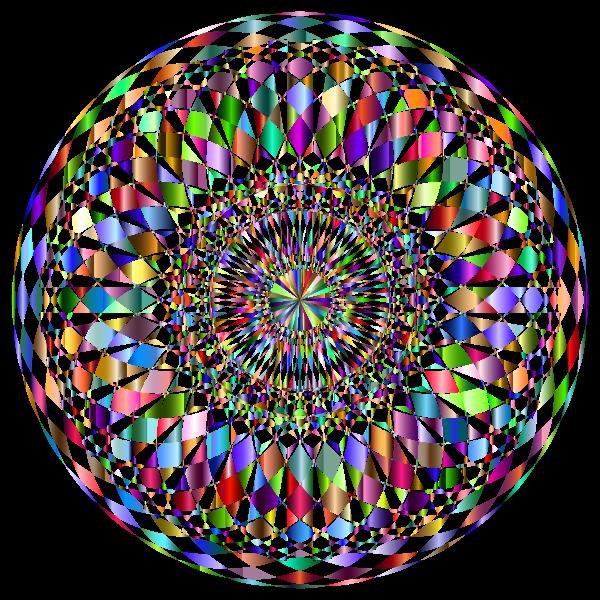 Decorative Mandala II Prismatic No Background