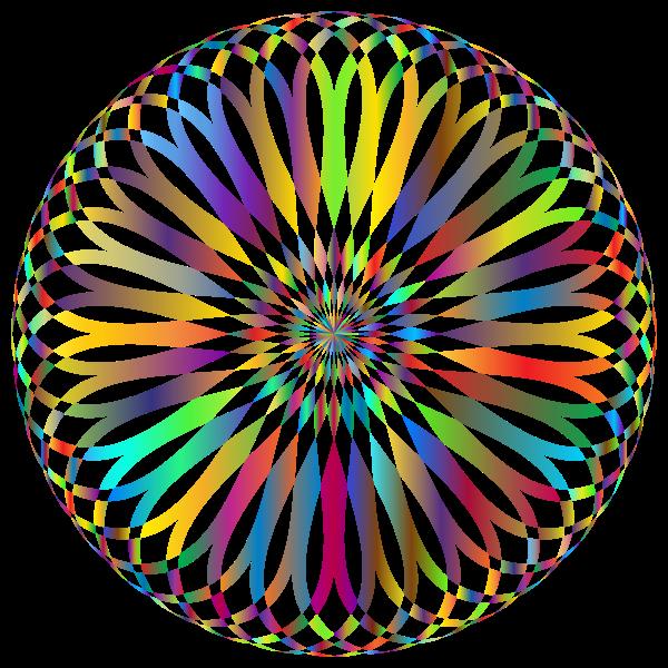 Decorative Mandala Prismatic No Background