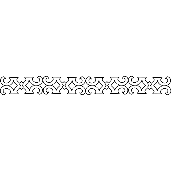 Decorative Divider horizontal black and white
