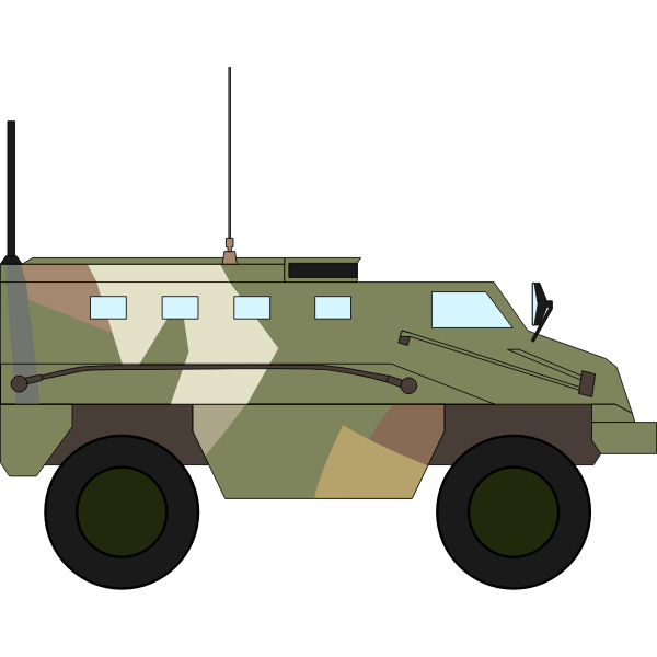 Armored military vehicle