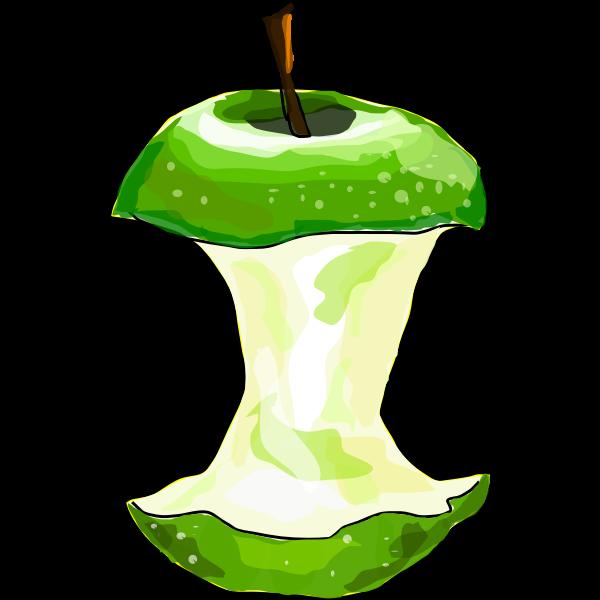 Vector image of eaten apple