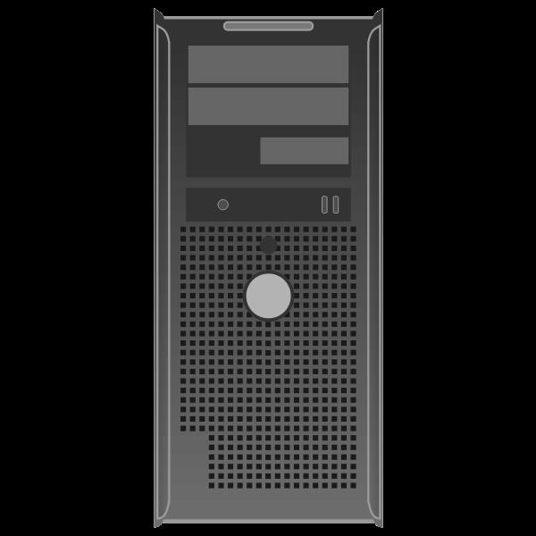 OptiPlex GX300 server vector drawing