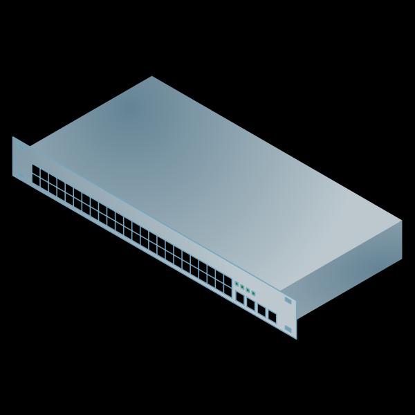 Dell erver computer vector image