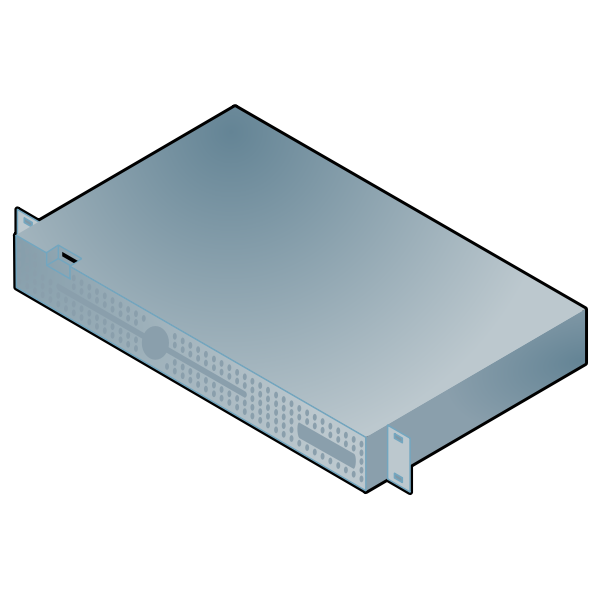 Server computer vector image