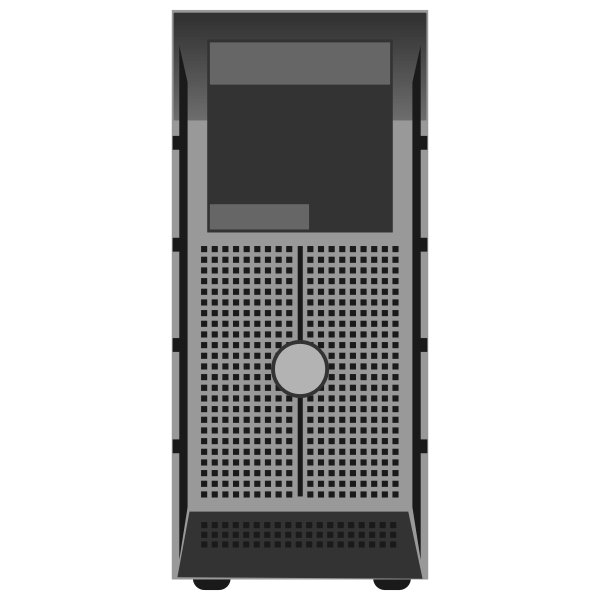 PowerEdge T300 Tower Server vector illustration