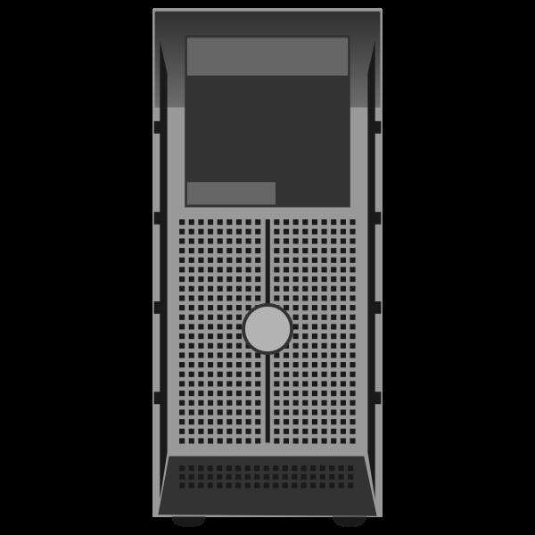 PowerEdge T300 Tower Server vector illustration