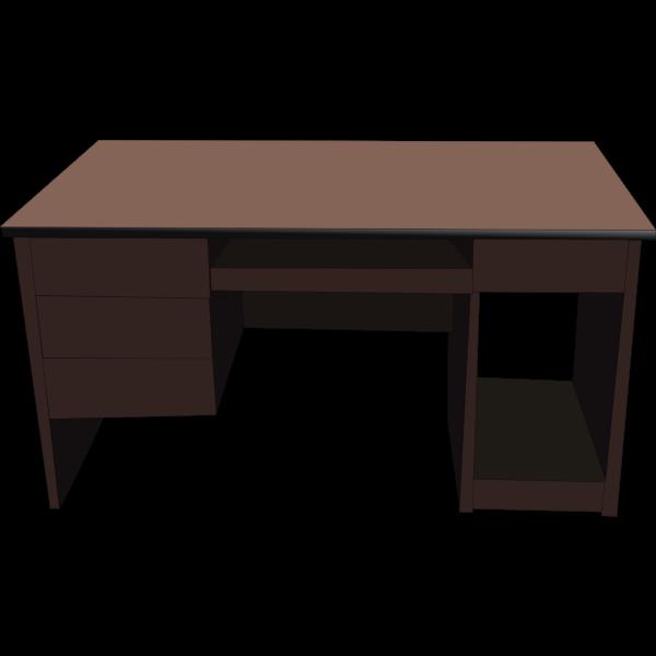Office desk vector illustration