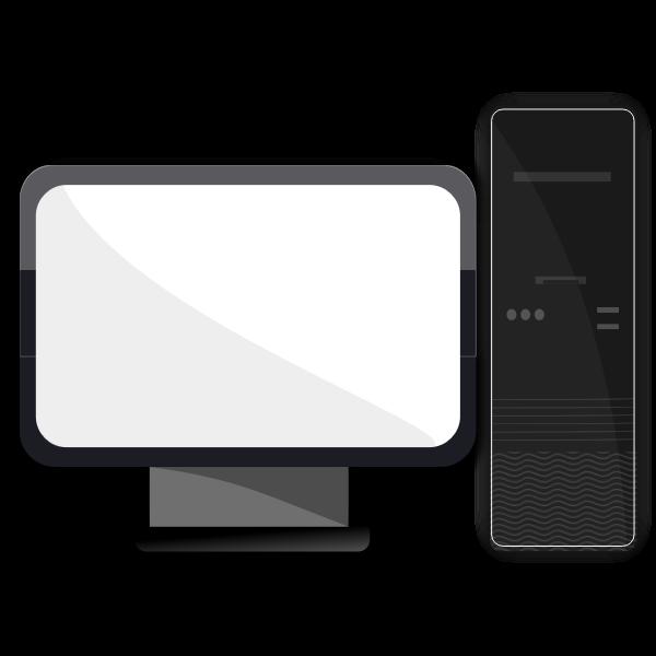 Stylish desktop computer vector image