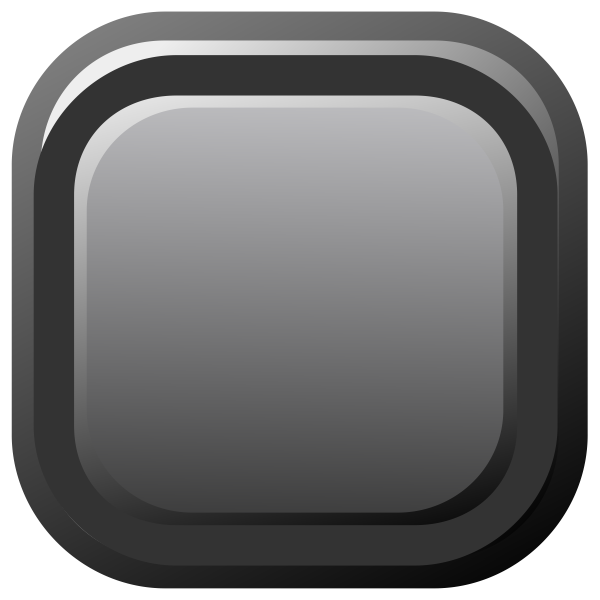 Vector image of black computer button