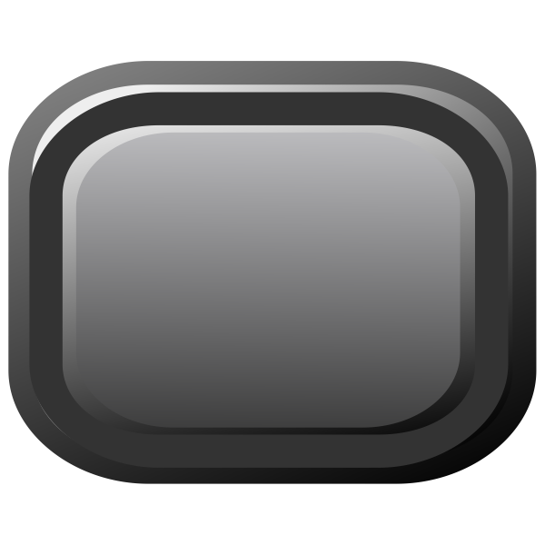 Black vector clip art of PC button.