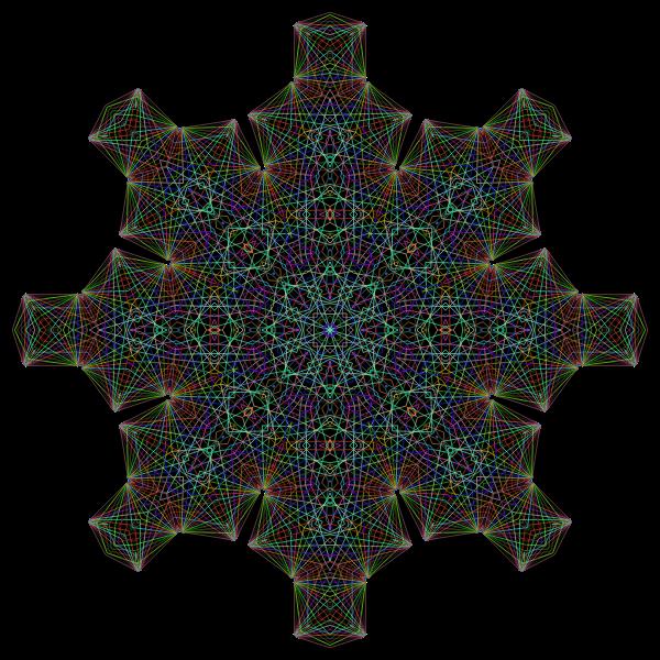 Dharma Wheel Line Art