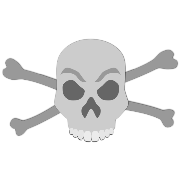 Vector image of abstract skull and bones sign