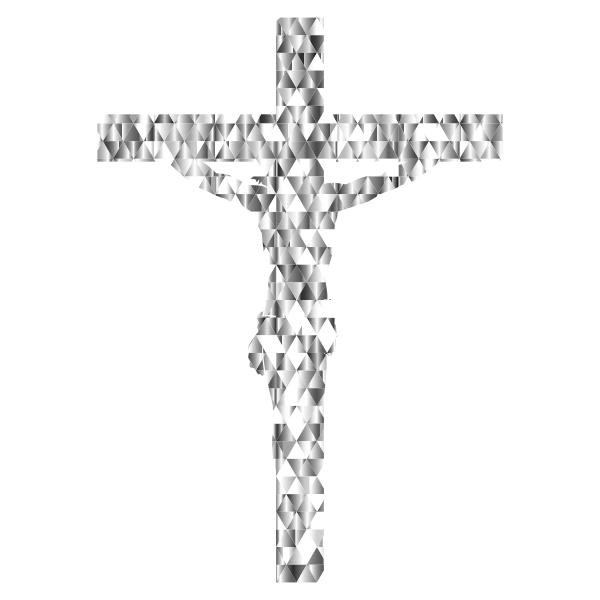 Diamond Gemstone Crucifix