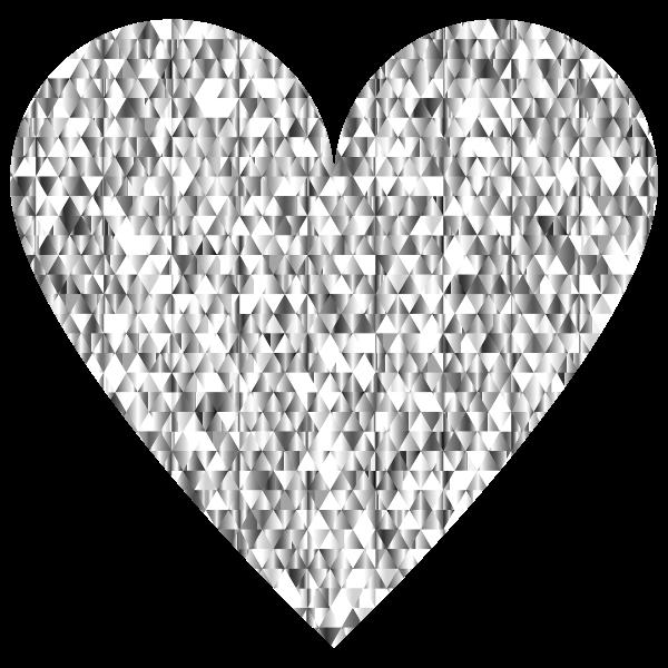 Diamond Gemstone Heart No Background