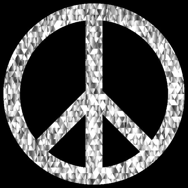 Diamond Gemstone Peace Sign