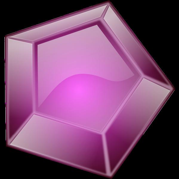 Multi surface purple diamond vector clip art