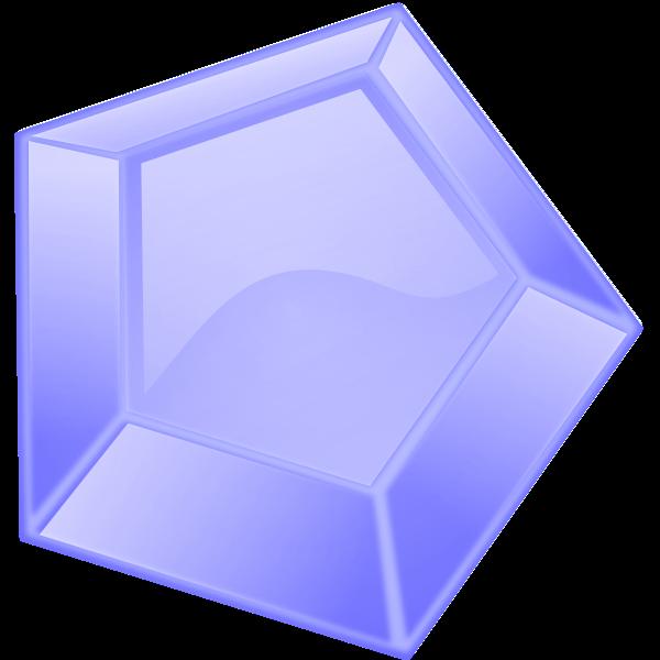 Hexagonal blue diamond vector image