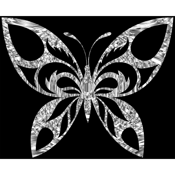 Diamond Tribal Butterfly Silhouette With Background