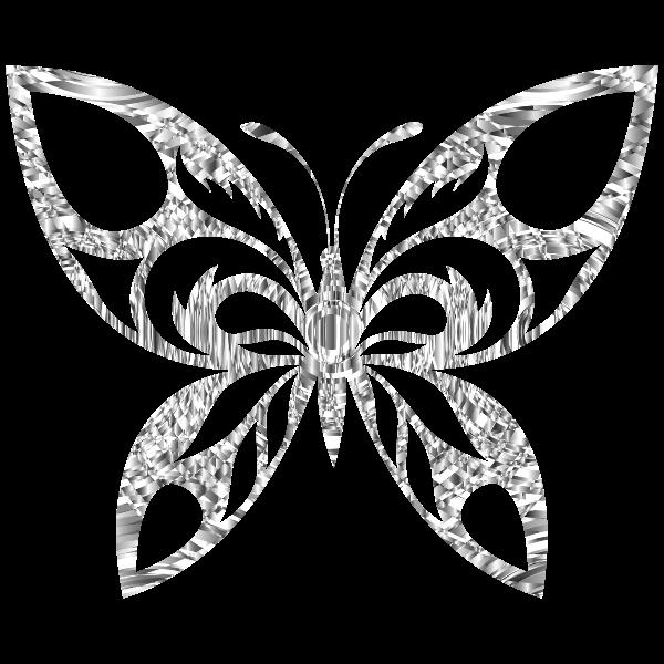 Diamond Tribal Butterfly Silhouette