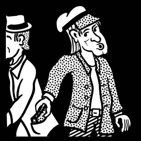 Vector drawing of pocket thief