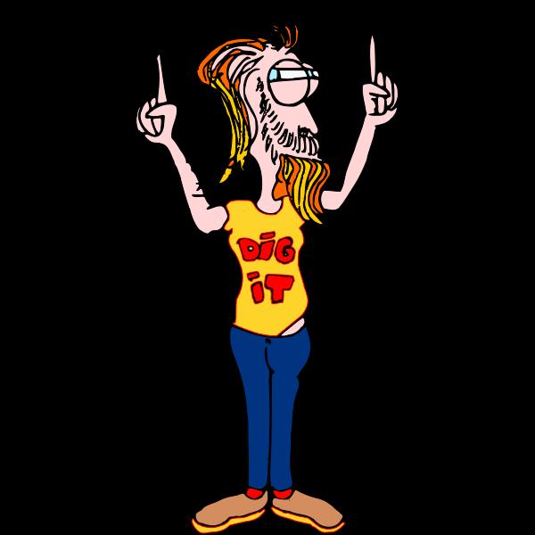 Cartoon hipster