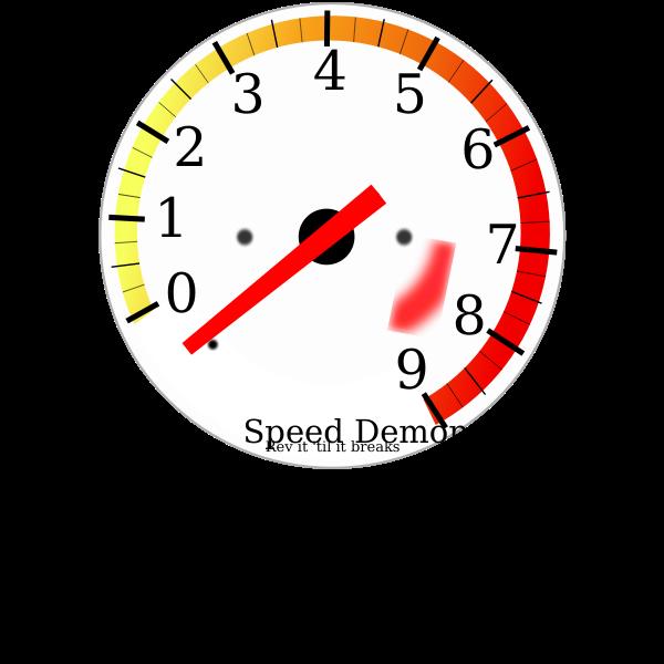 Tachometer vector graphics
