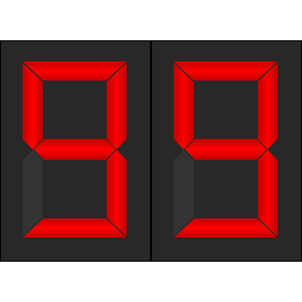 Digital numberdisplay vectorimage