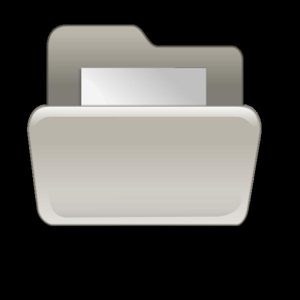 Beige folder with paper vector illustration