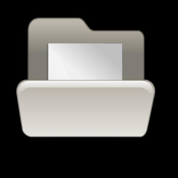 Beige file folder vector illustration