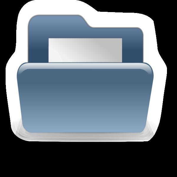 Blue file folder vector illustration