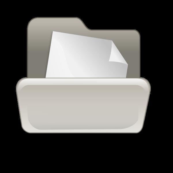 Folder with blank paper vector illustration