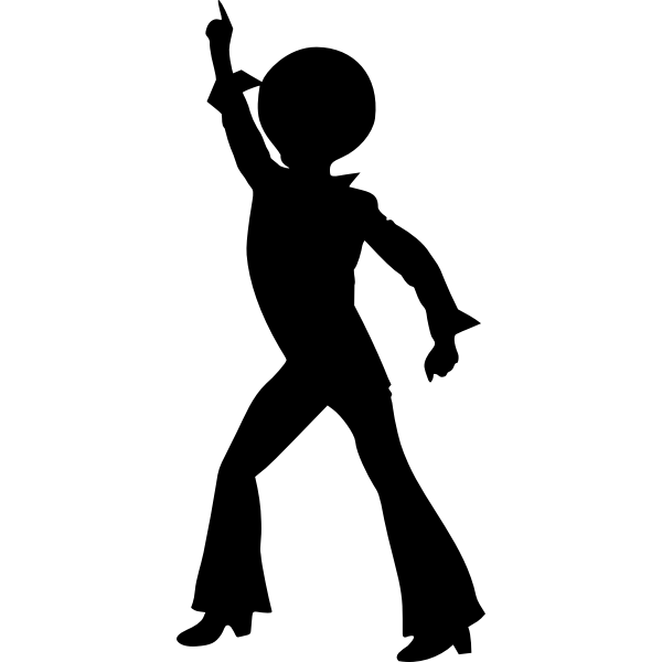 Silhouette vector clip art of man dacing