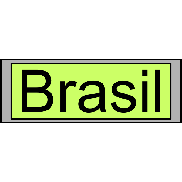 "Digital Display with ""Brasil"" text"