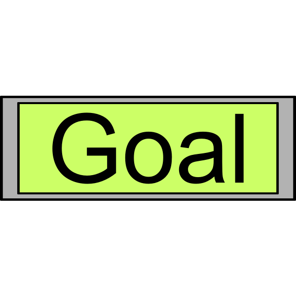 """Digital Display with """"Goal"""" text"""