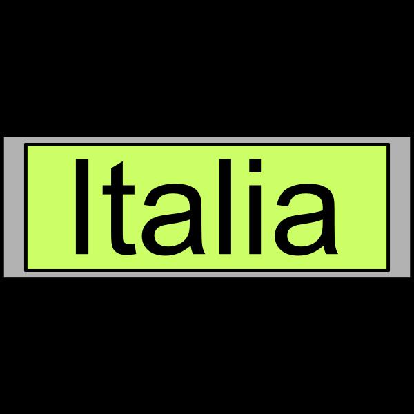 "Digital Display with ""Italia"" text"