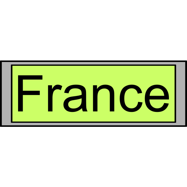 "Digital Display with ""France"" text"