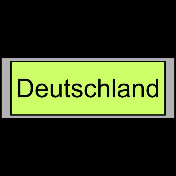 """Digital Display with """"Deutschland"""" text"""