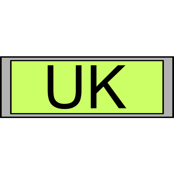 """Digital Display with """"UK"""" text"""