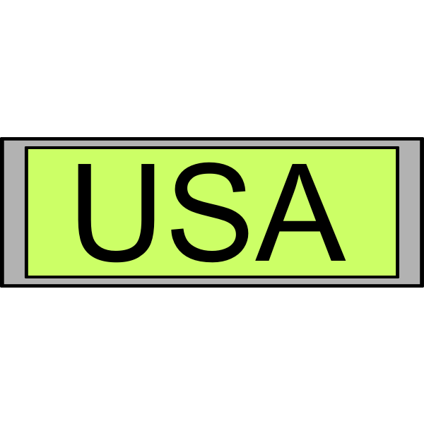 "Digital Display with ""USA"" text"